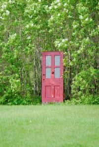 red door close up